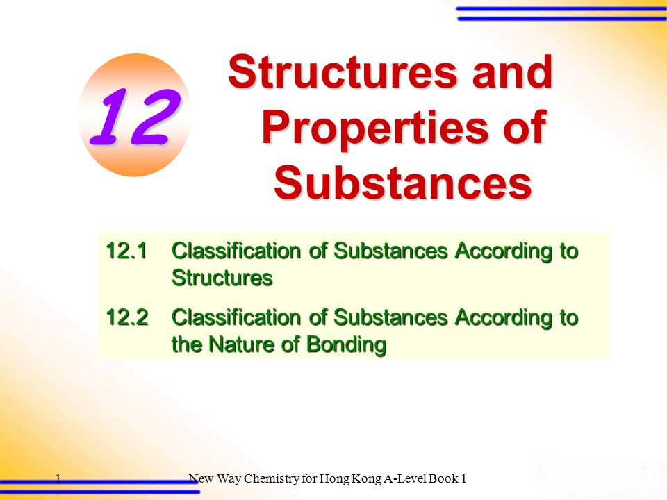 Structures and Properties of Substances