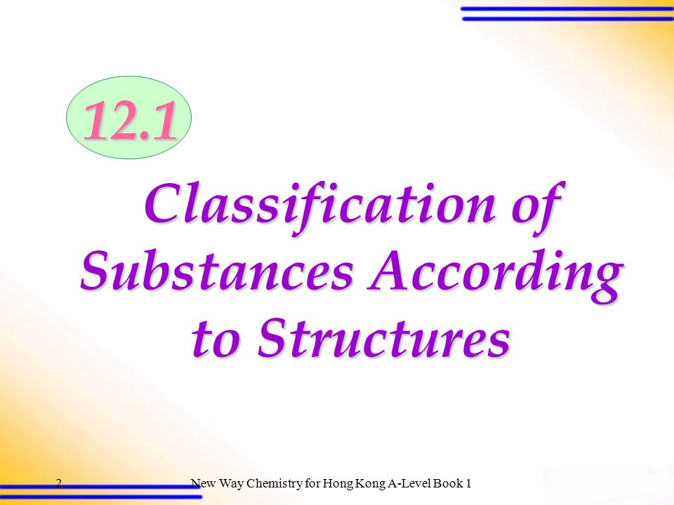 Classification of Substances According to Structures