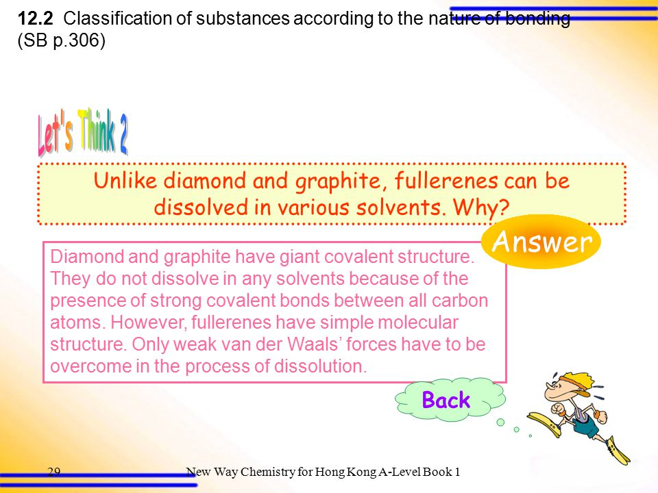 12.2 Classification of substances according to the nature of bonding (SB p.306)