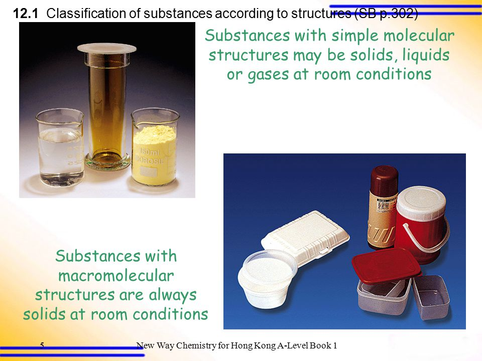 12.1 Classification of substances according to structures (SB p.302)