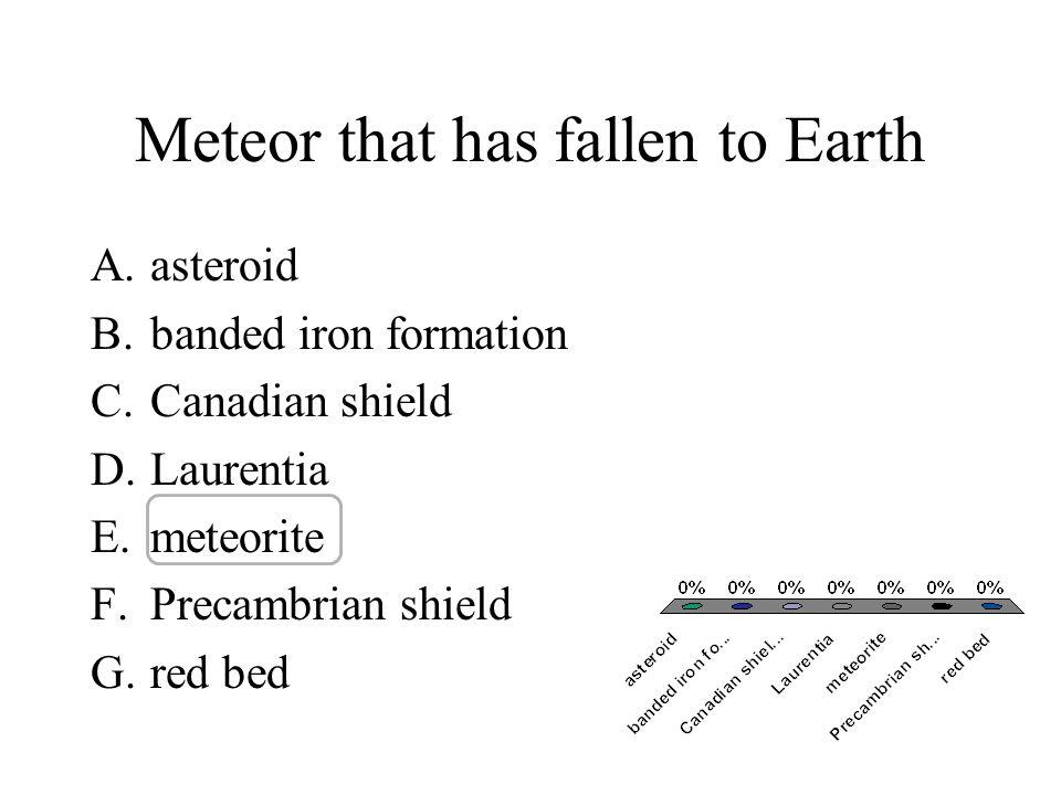 Meteor that has fallen to Earth