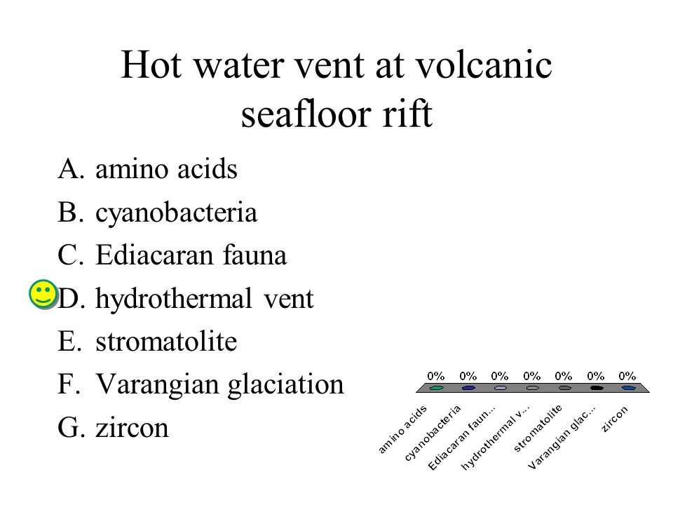 Hot water vent at volcanic seafloor rift