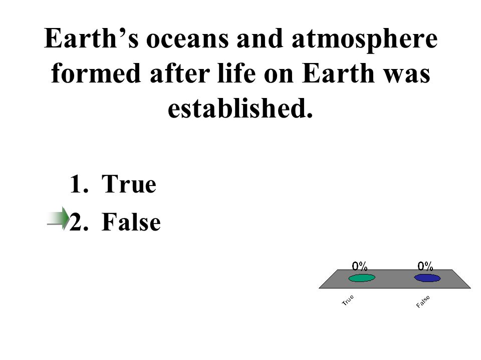 Earth's oceans and atmosphere formed after life on Earth was established.