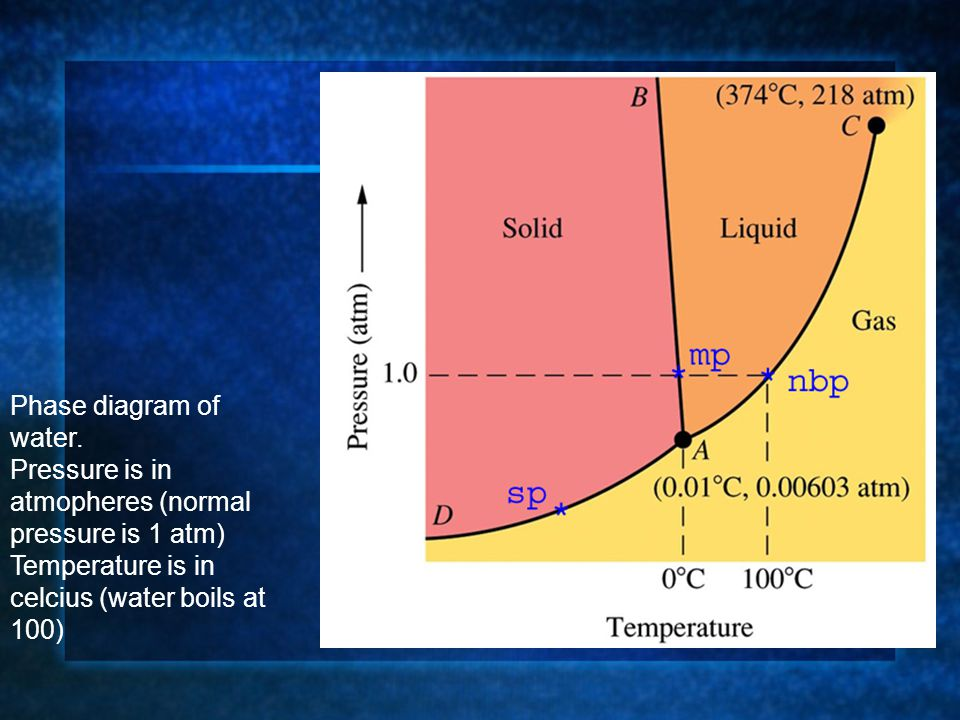 Phase diagram of water.
