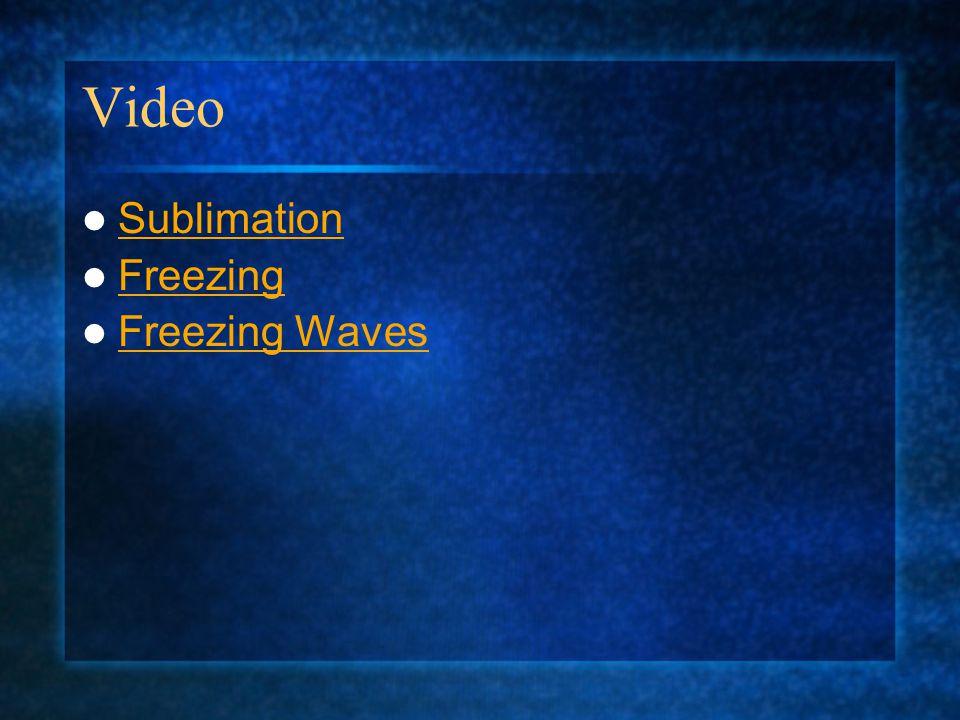 Video Sublimation Freezing Freezing Waves