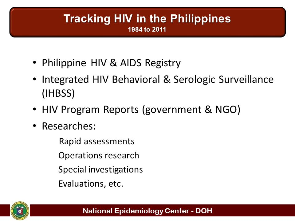 Tracking HIV in the Philippines