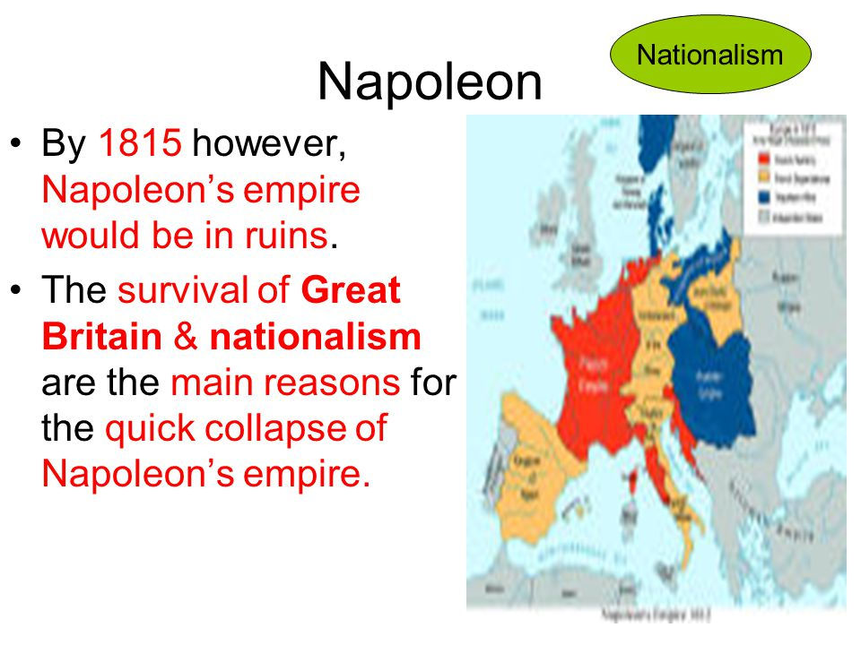 Napoleon By 1815 however, Napoleon's empire would be in ruins.