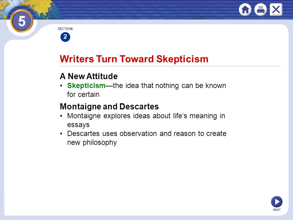 Writers Turn Toward Skepticism