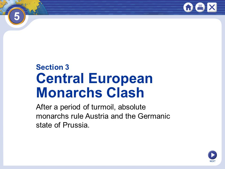 Central European Monarchs Clash Section 3