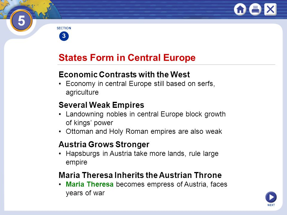 States Form in Central Europe