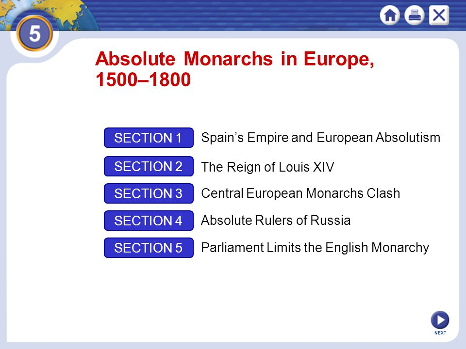 Absolute Monarchs in Europe, 1500–1800