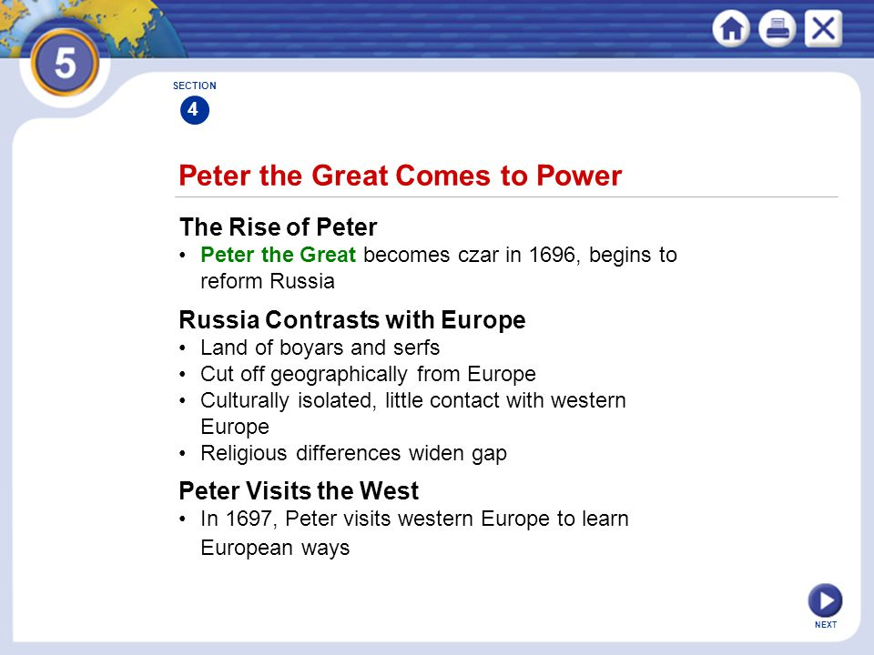 Peter the Great Comes to Power