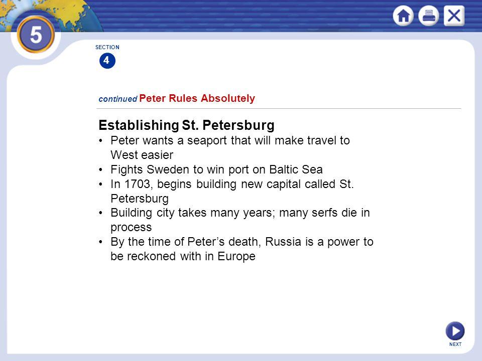 Establishing St. Petersburg
