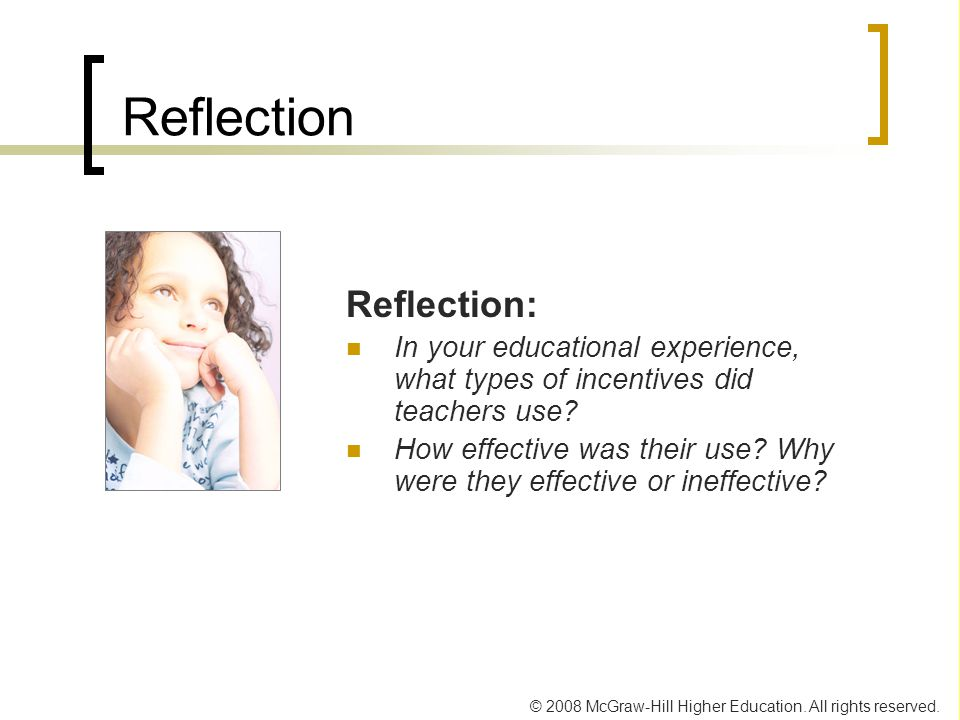 Reflection Reflection: