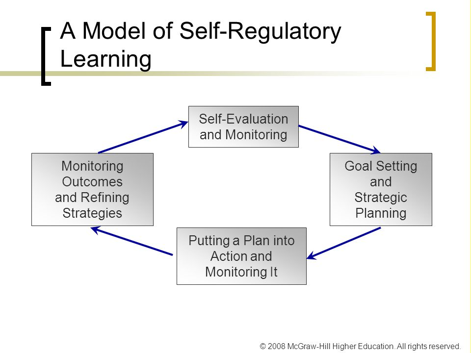 A Model of Self-Regulatory Learning