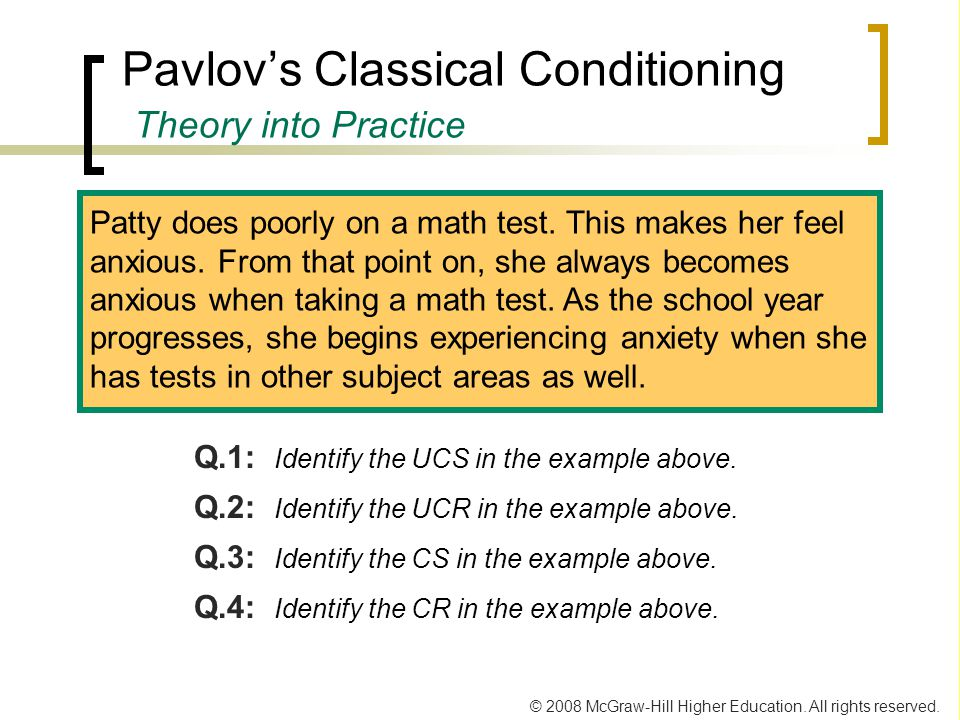 Pavlov's Classical Conditioning Theory into Practice