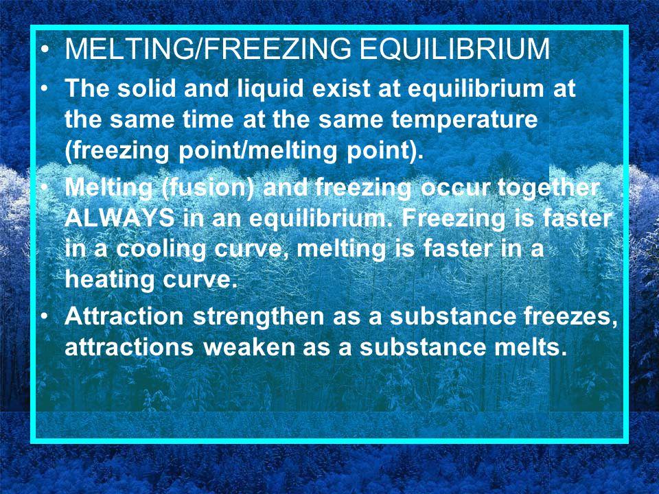 MELTING/FREEZING EQUILIBRIUM