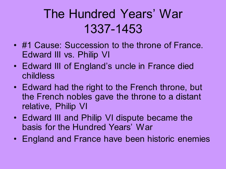 The Hundred Years' War 1337-1453