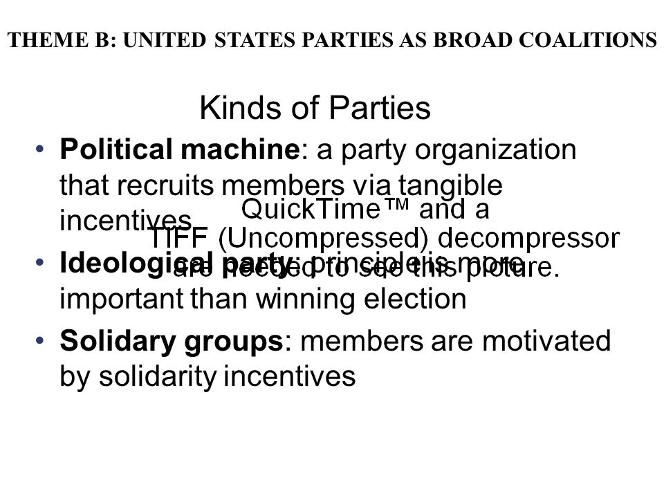 THEME B: UNITED STATES PARTIES AS BROAD COALITIONS