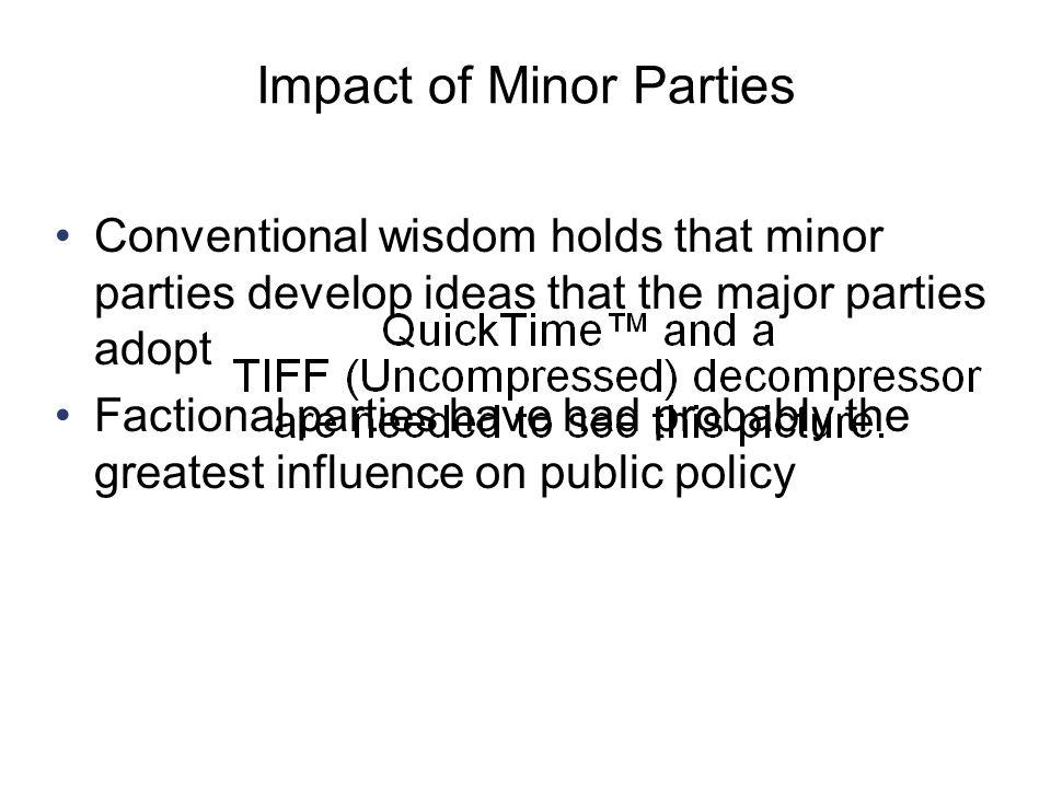 Impact of Minor Parties
