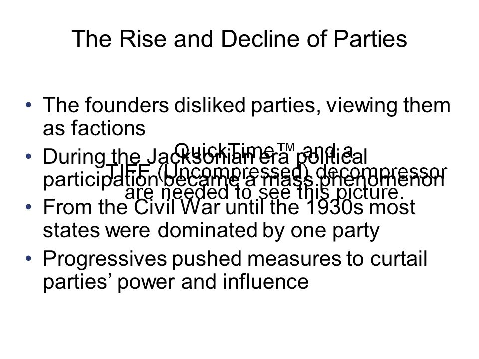 The Rise and Decline of Parties