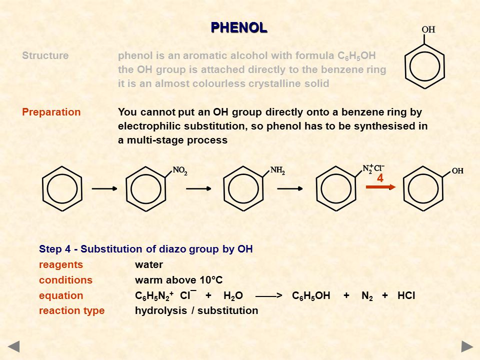 PHENOL 4 Structure phenol is an aromatic alcohol with formula C6H5OH