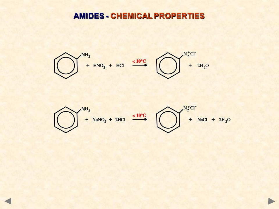 AMIDES - CHEMICAL PROPERTIES