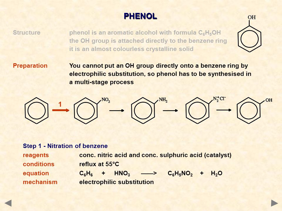 PHENOL 1 Structure phenol is an aromatic alcohol with formula C6H5OH