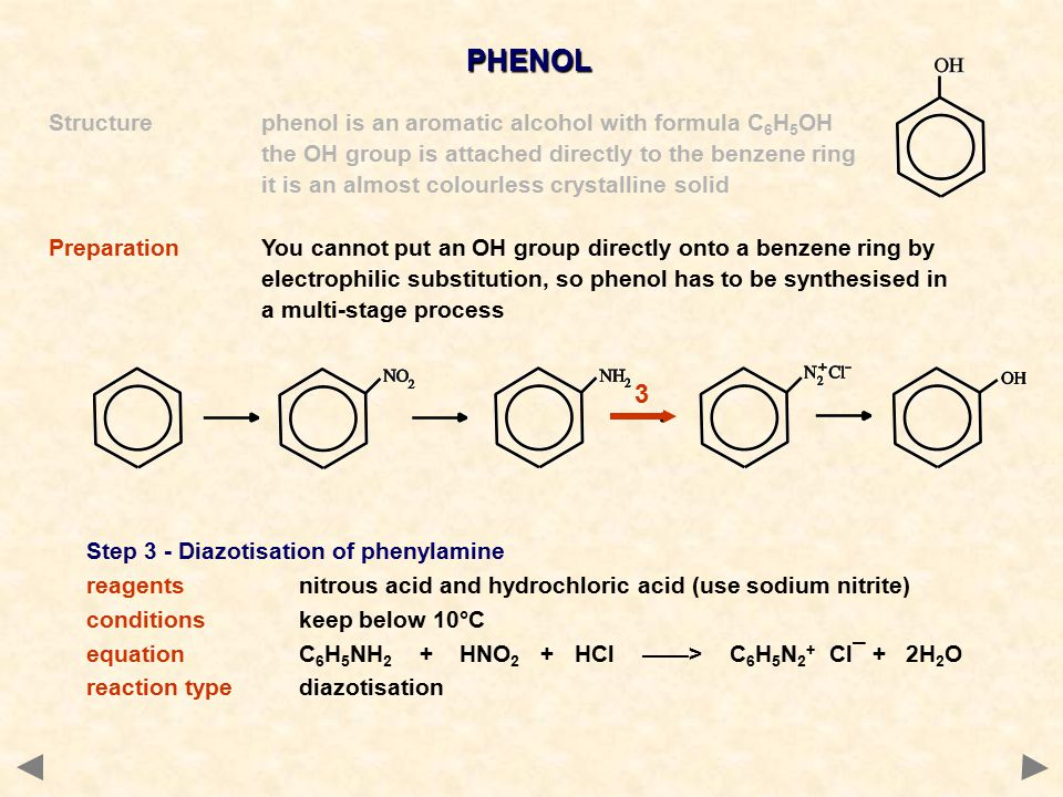 PHENOL 3 Structure phenol is an aromatic alcohol with formula C6H5OH