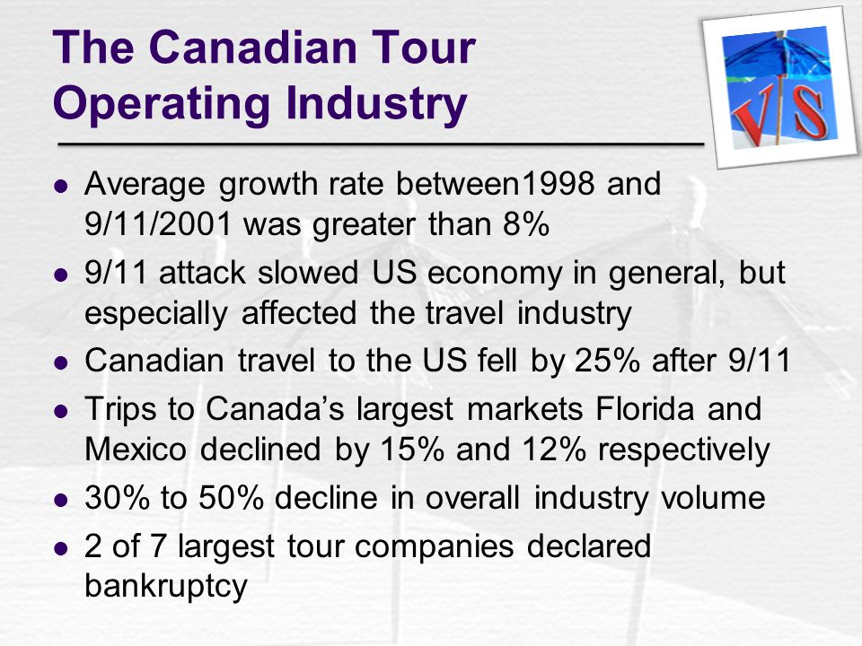 The Canadian Tour Operating Industry