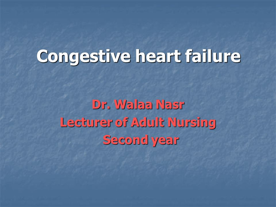 congestive heart failure term paper