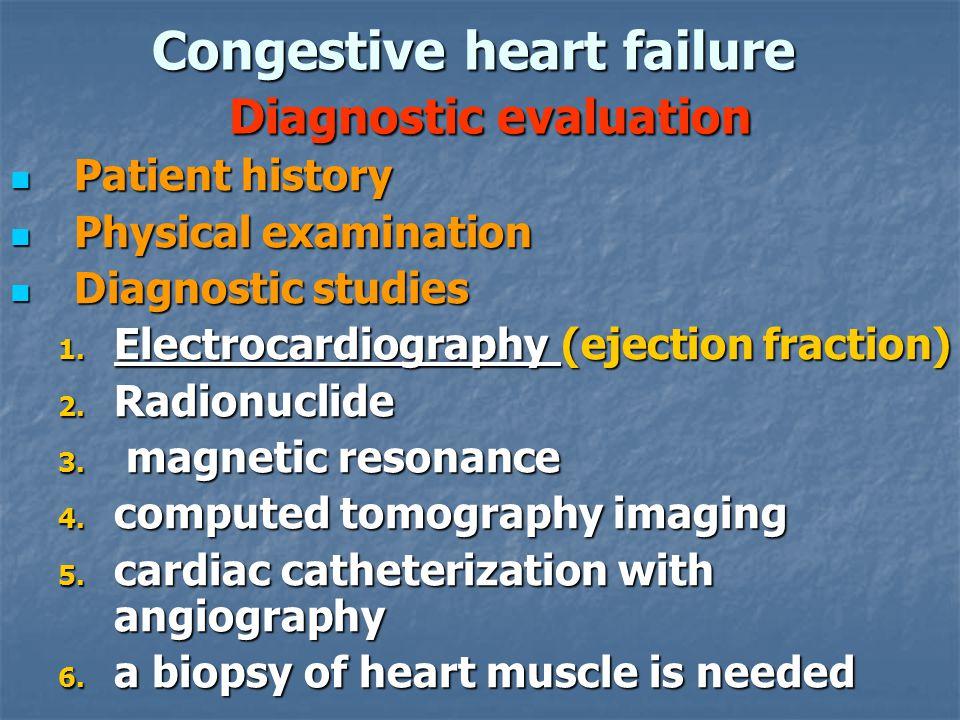 Congestive heart failure Diagnostic evaluation