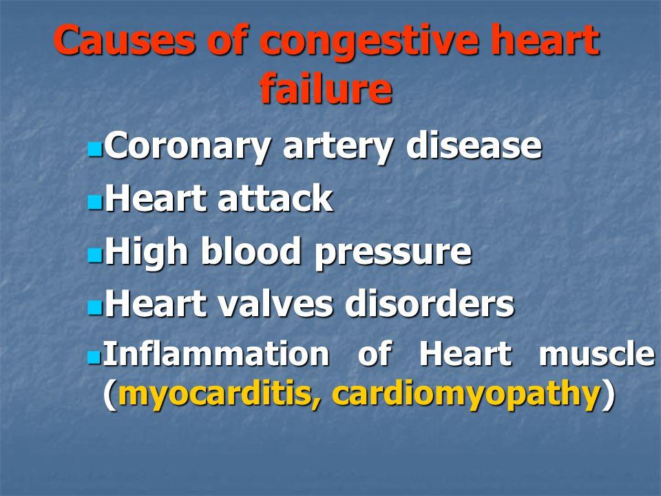 Causes of congestive heart failure