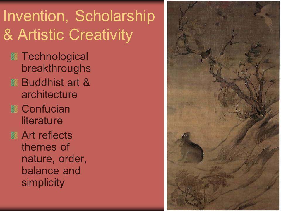 Invention, Scholarship & Artistic Creativity