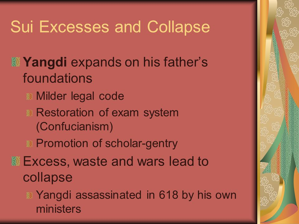 Sui Excesses and Collapse