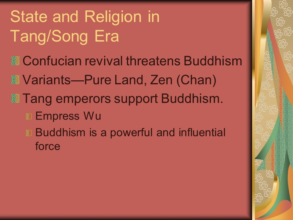 State and Religion in Tang/Song Era