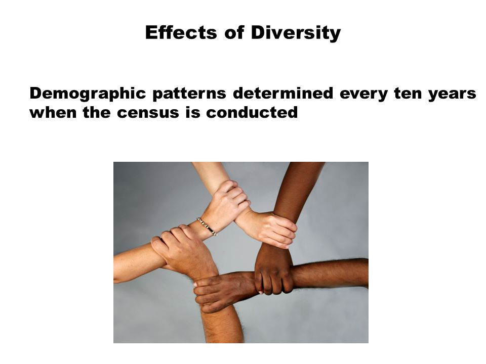 Effects of Diversity Demographic patterns determined every ten years
