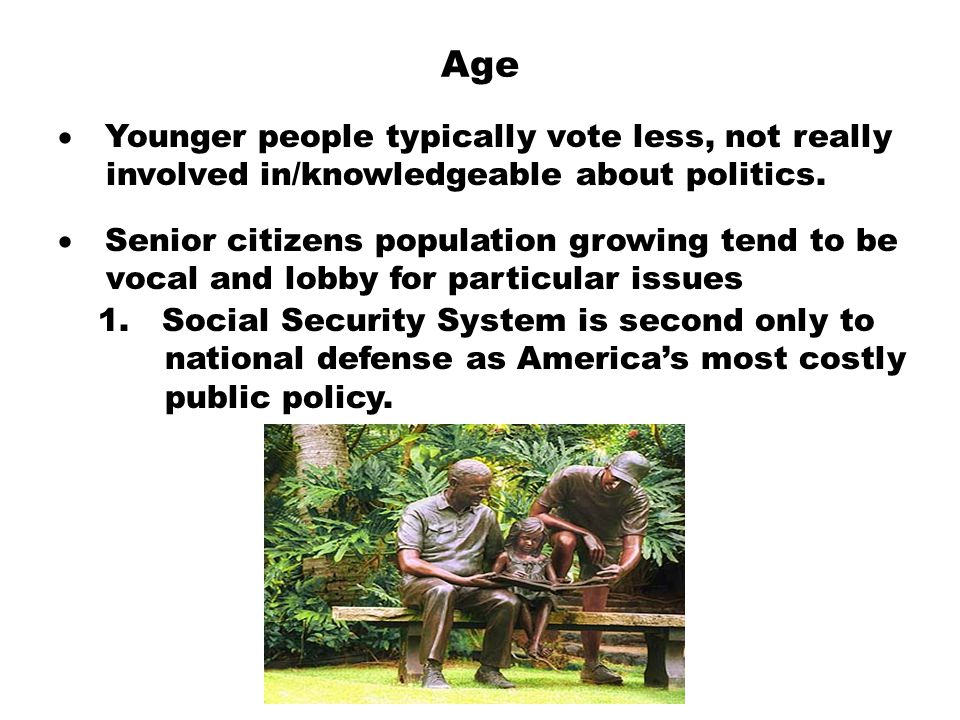 Age · Younger people typically vote less, not really