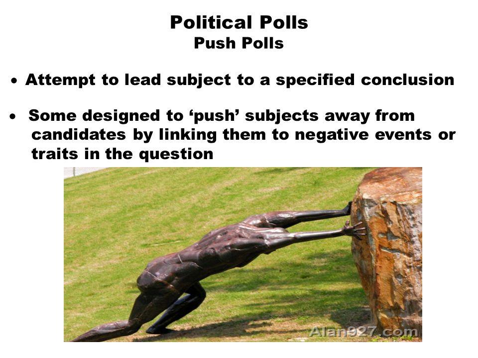 Political Polls Push Polls