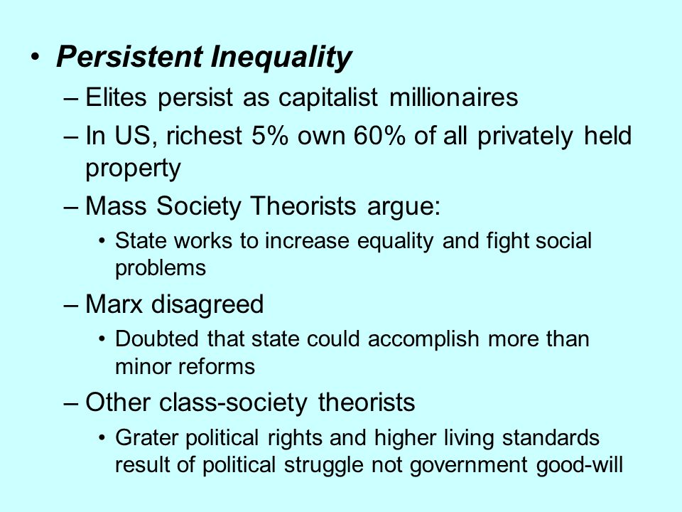 Persistent Inequality