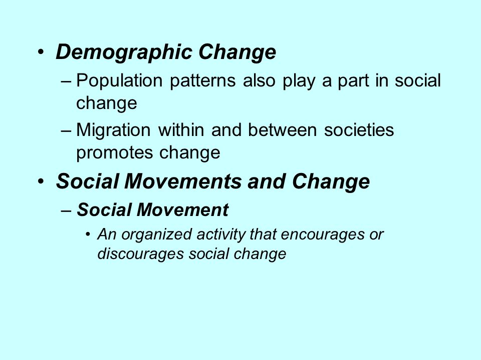 Social Movements and Change