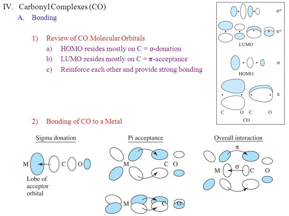 Carbonyl Complexes (CO)