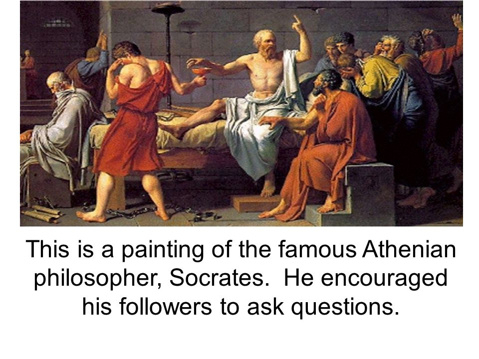 This is a painting of the famous Athenian