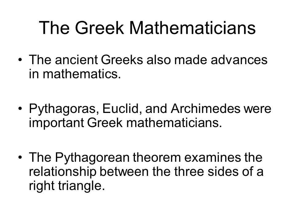 The Greek Mathematicians