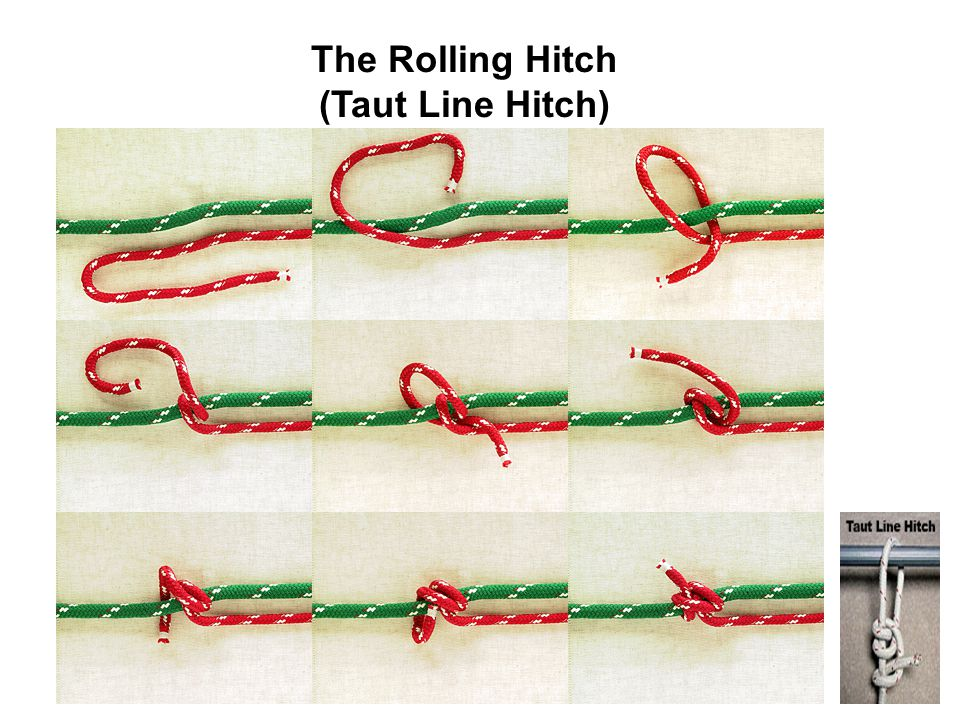 The Rolling Hitch (Taut Line Hitch)