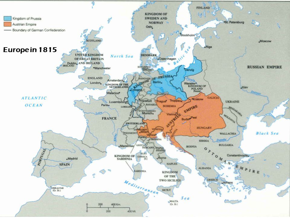 Europe in 1815
