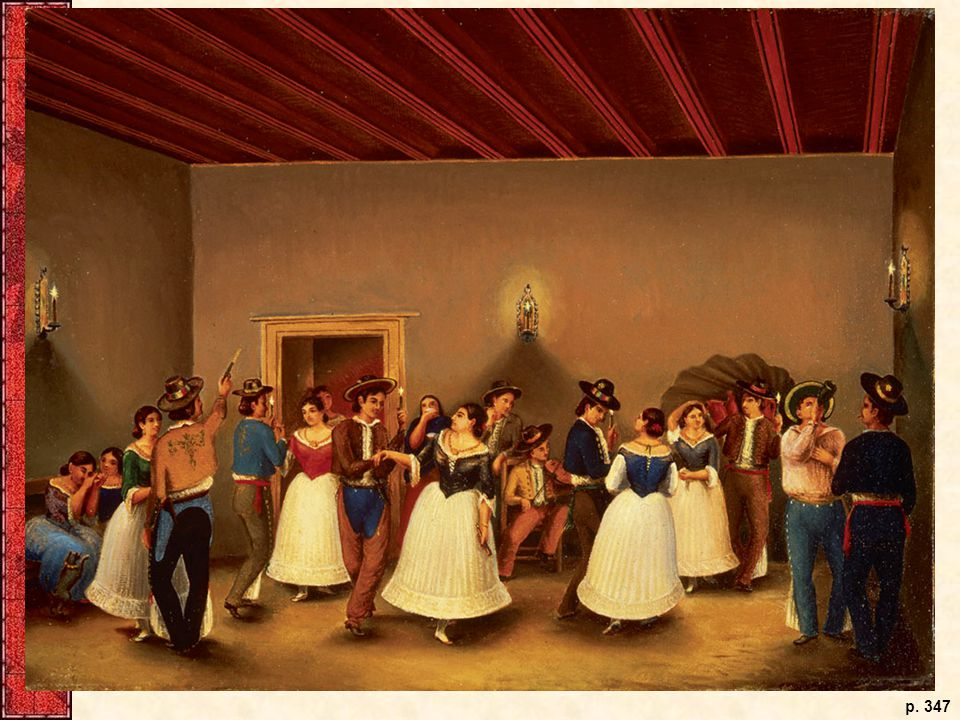Theodore Gentilz arrived in Texas in the 1840s and soon began portraying the region's culture with his paintbrush. Here, Tejano settlers perform the fandango, a Spanish dance.