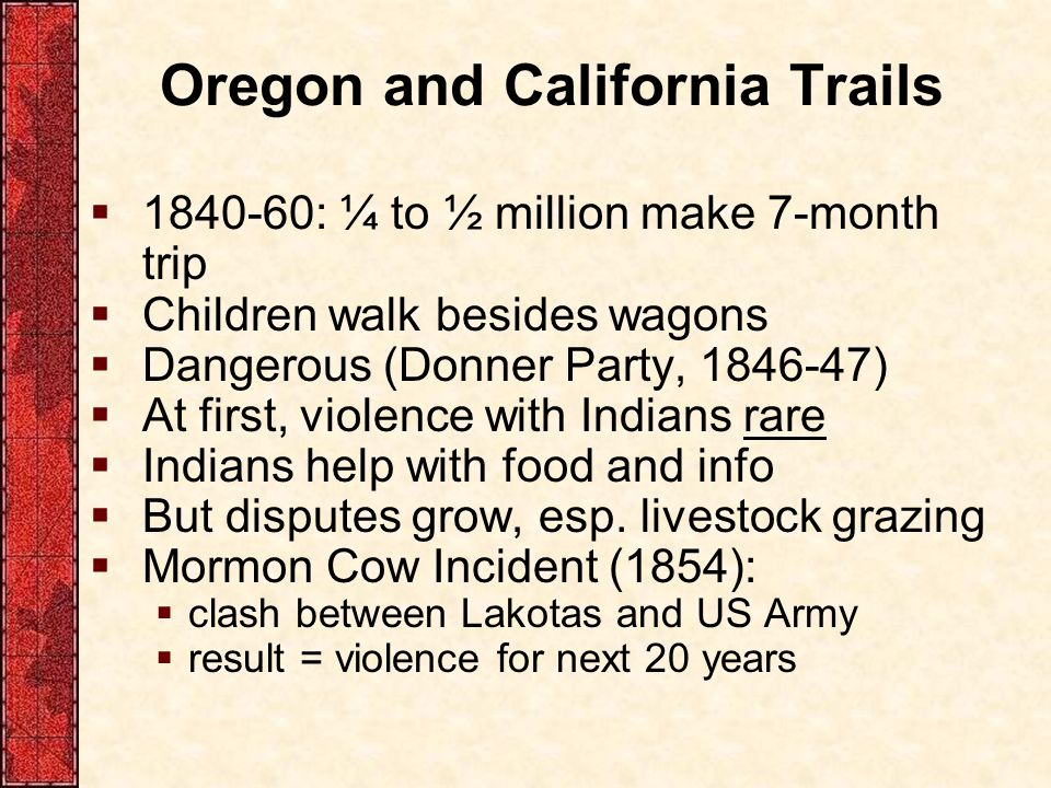 Oregon and California Trails