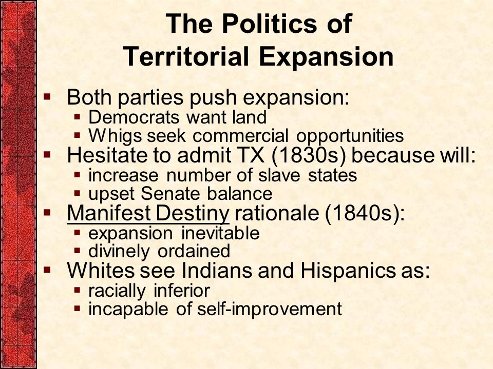 The Politics of Territorial Expansion