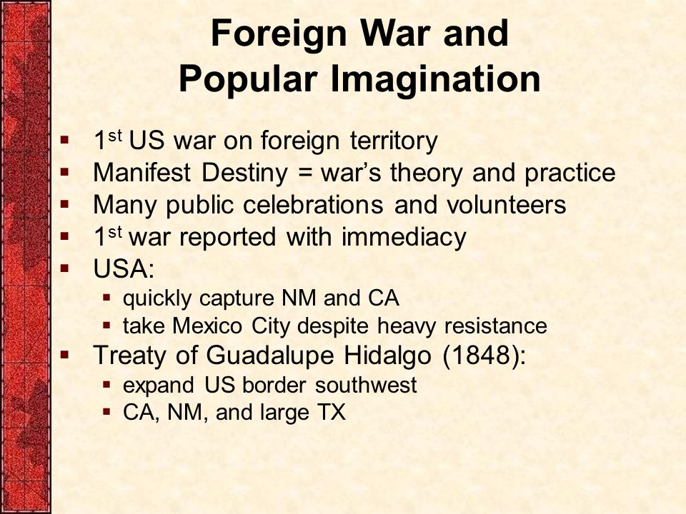 Foreign War and Popular Imagination